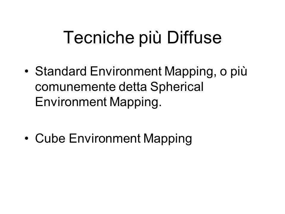 Tecniche più Diffuse Standard Environment Mapping, o più comunemente detta Spherical Environment Mapping. Cube Environment Mapping