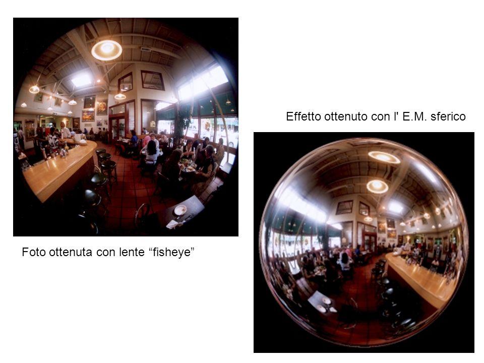 Foto ottenuta con lente fisheye Effetto ottenuto con l' E.M. sferico