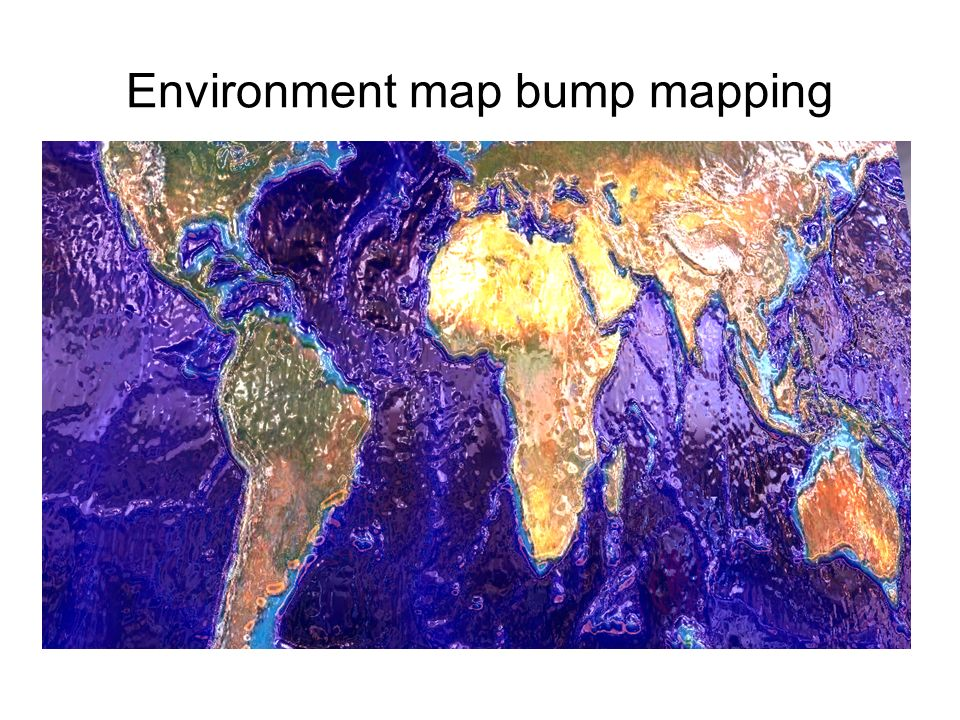 Environment map bump mapping