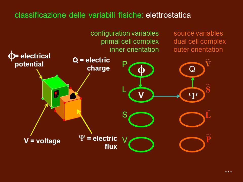 PLSVPLSV complesso primale orientazione interna complesso duale orientazione esterna classificazione degli elementi spaziali punto linea superficie vo