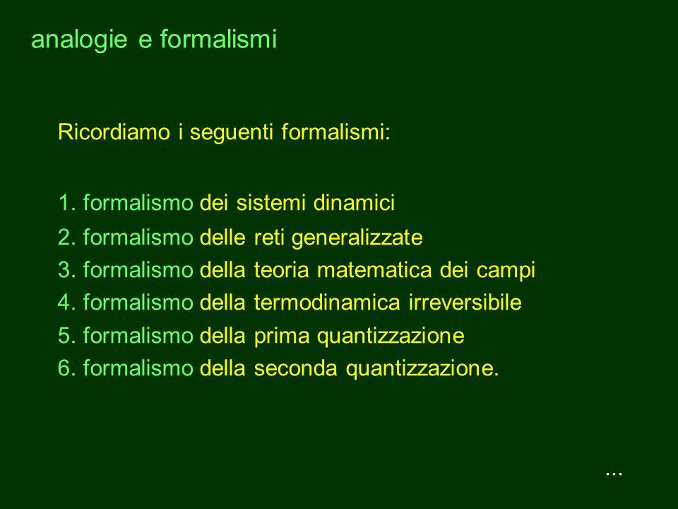 analogie e formalismi...