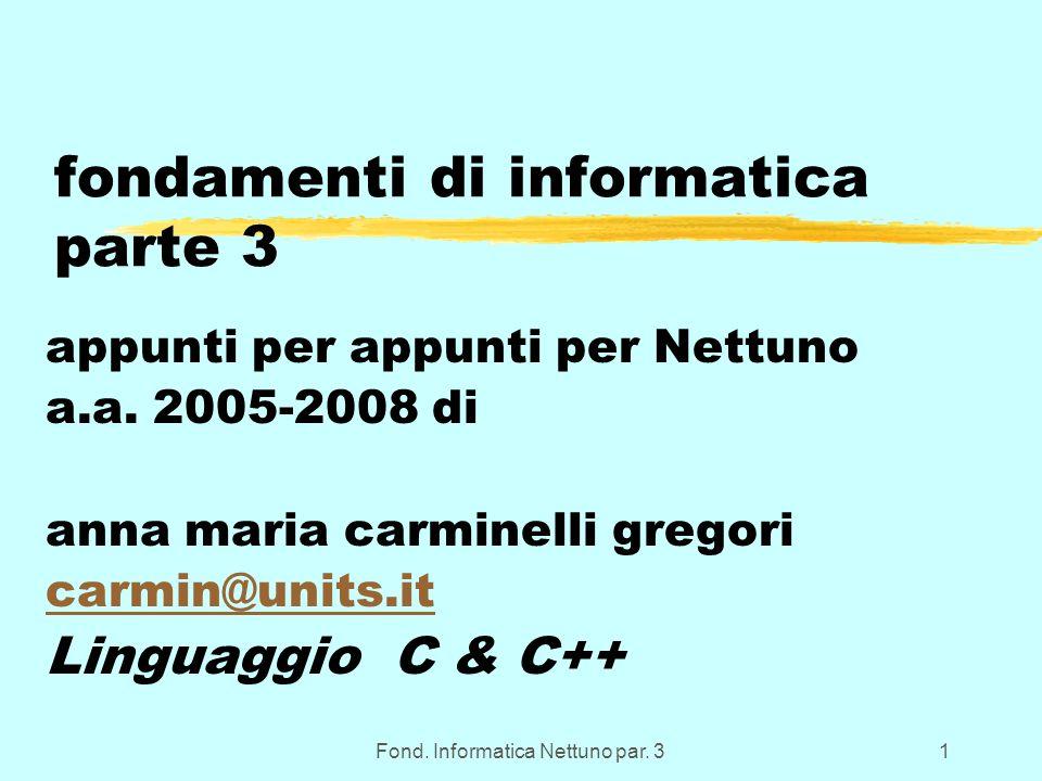 Fond.Informatica Nettuno par. 312 Inizializzazione delle var.