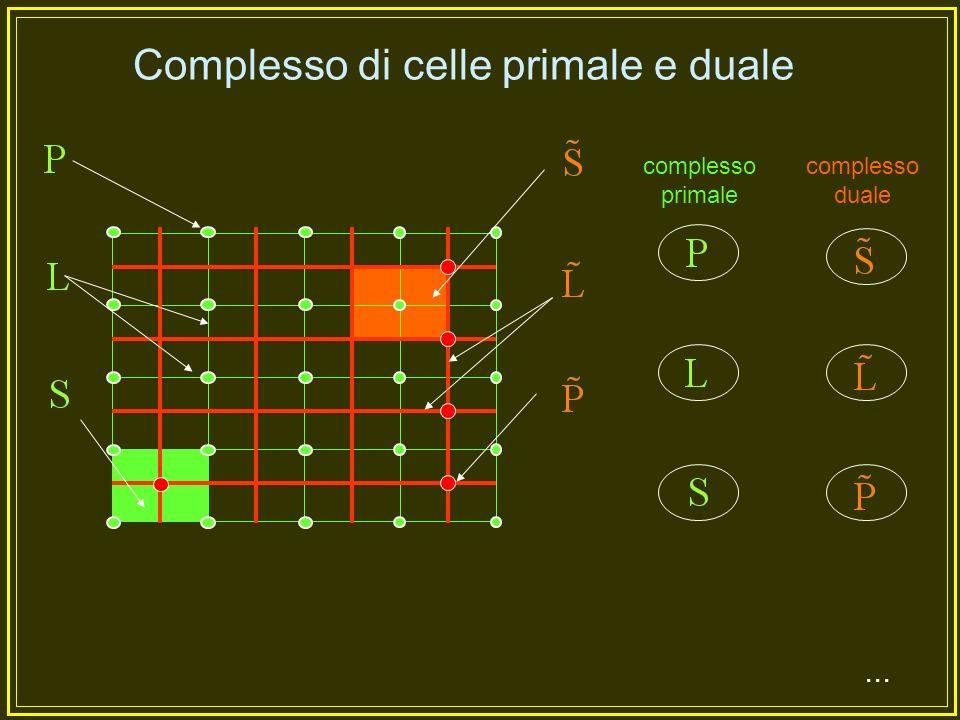 Elementi spaziali Chiameremo elementi spaziali i punti (P), le linee (L), le superfici (S), i volumi (V);...