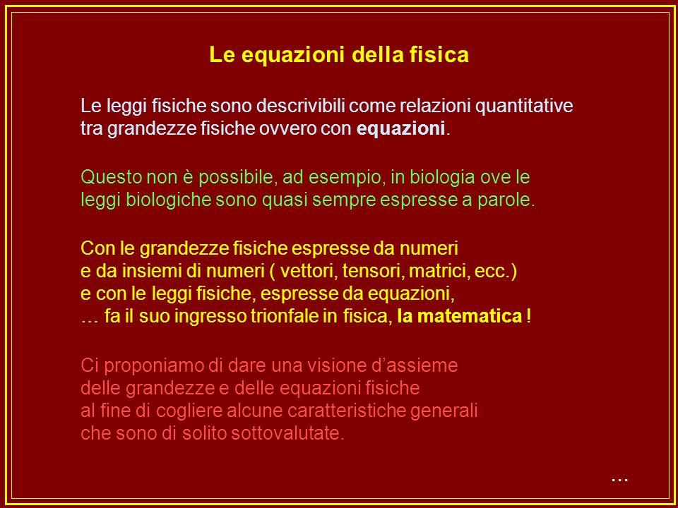 Equazioni...