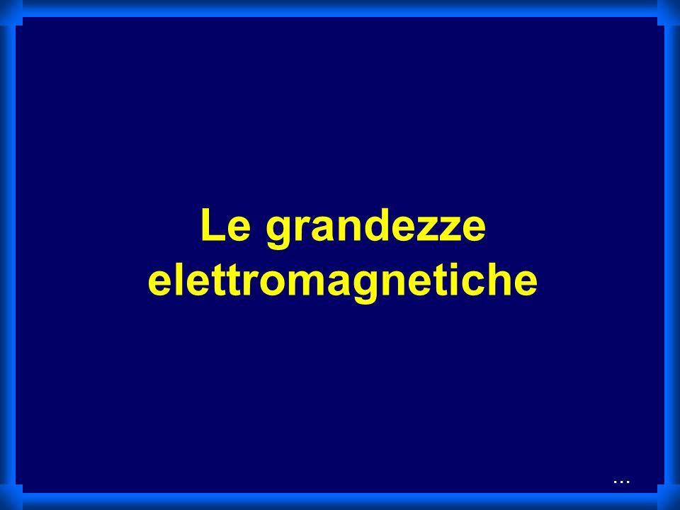 Le grandezze elettromagnetiche...