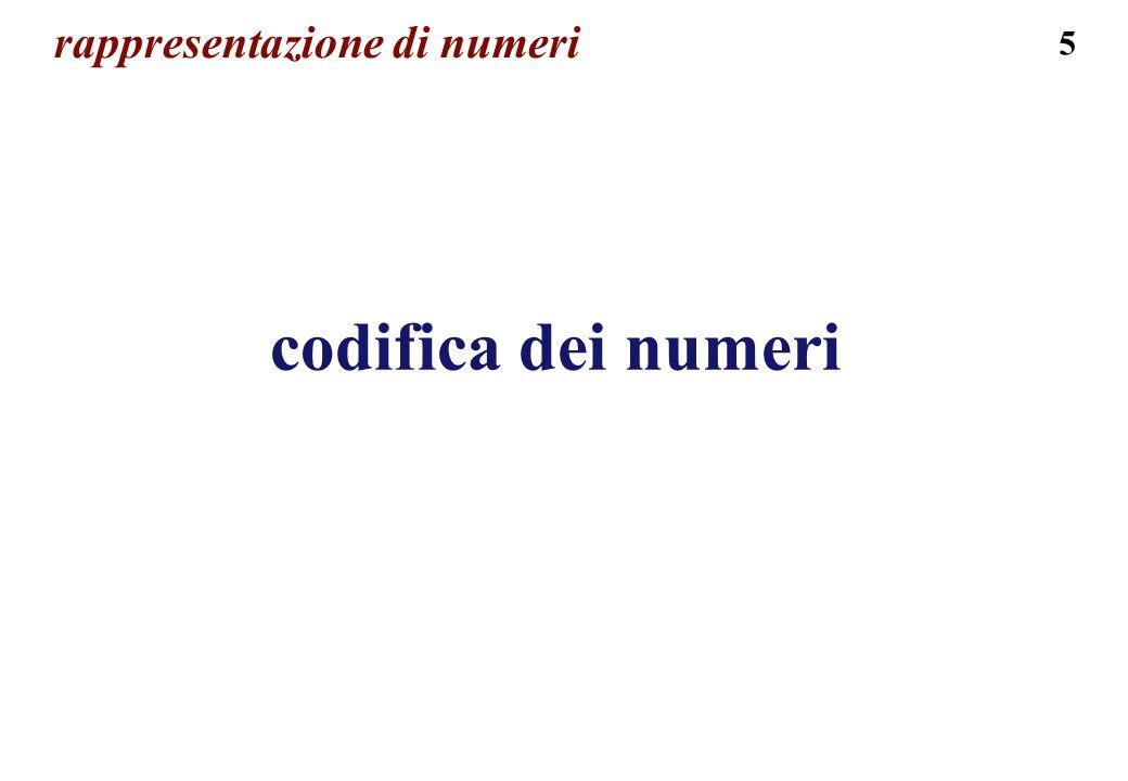 5 rappresentazione di numeri codifica dei numeri