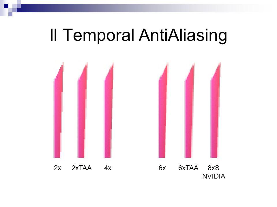 Il Temporal AntiAliasing 2x2xTAA4x6x6xTAA8xS NVIDIA