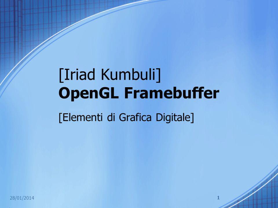 Definizione Un buffer in OpenGL è un vettore bi- dimensionale di valori che corrispondono ad un pixel in una finestra o unimmagine.