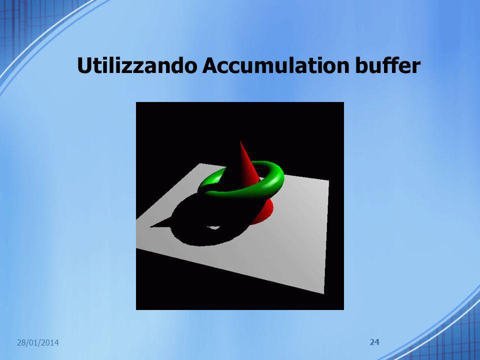 Utilizzando Accumulation buffer 28/01/2014 24