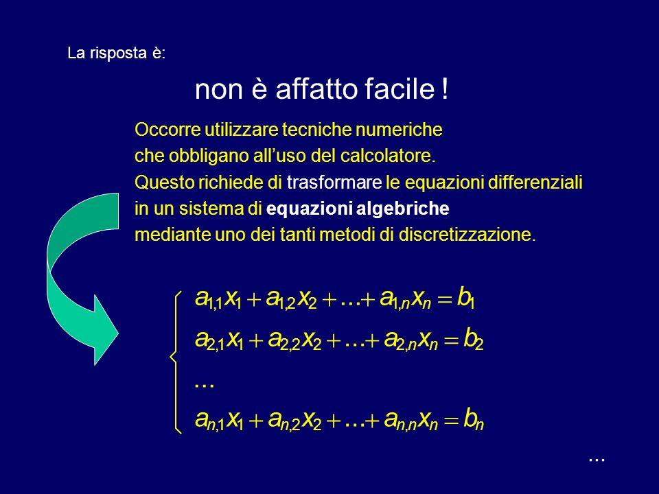 ... le funzioni da determinare Abbiamo detto che in ciascun campo lobiettivo è di determinare delle funzioni, scalari o vettoriali ad ogni istante e i