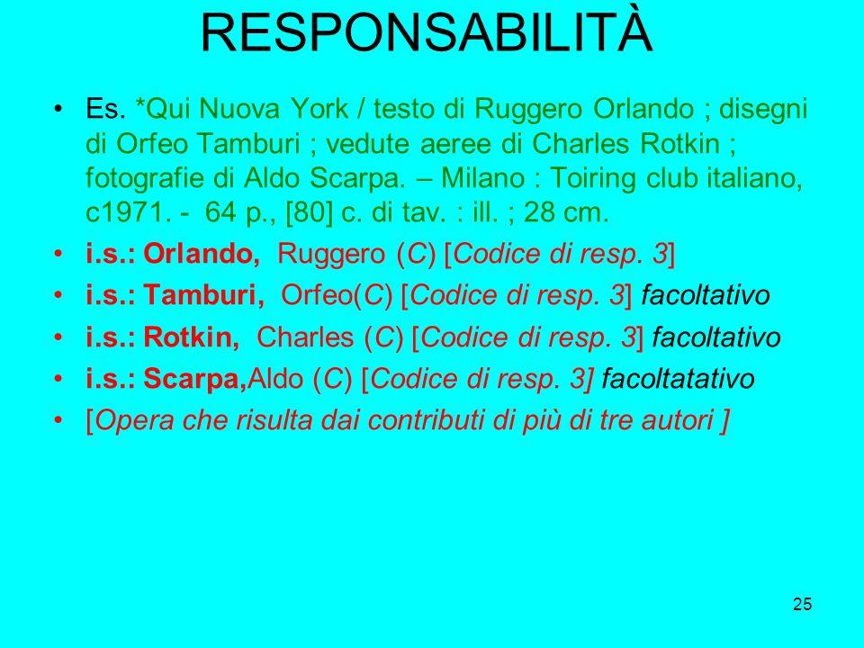 25 RESPONSABILITÀ Es. *Qui Nuova York / testo di Ruggero Orlando ; disegni di Orfeo Tamburi ; vedute aeree di Charles Rotkin ; fotografie di Aldo Scar
