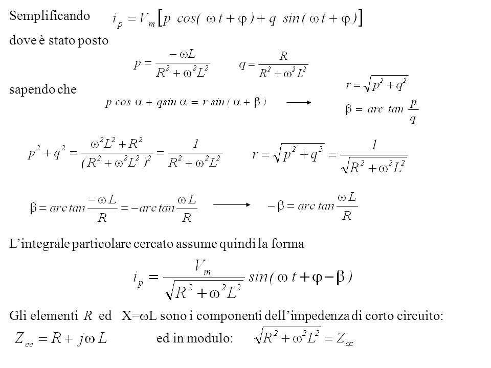 Utilizziamo un metodo empirico consigliato dalle norme Siano P p le perdite del trasformatore.