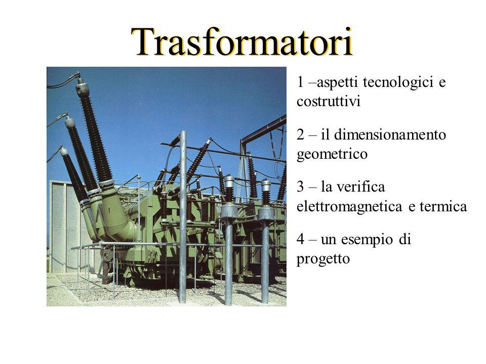 1 –aspetti tecnologici e costruttivi 2 – il dimensionamento geometrico 3 – la verifica elettromagnetica e termica 4 – un esempio di progetto Trasforma