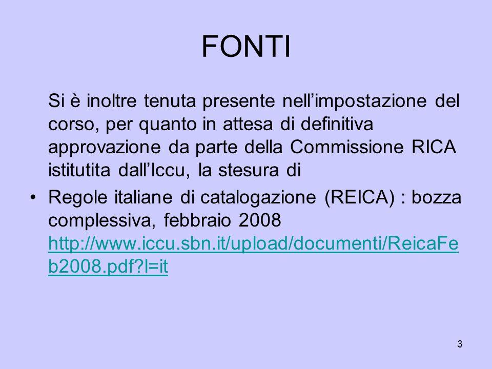 14 CATALOGAZIONE A LIVELLI RAV0186566 MONOGRAFIA DATA INCERTA Paese : ITALIA Lingua: ITALIANO Genere : Enciclopedie *Enciclopedia delle scienze sociali.