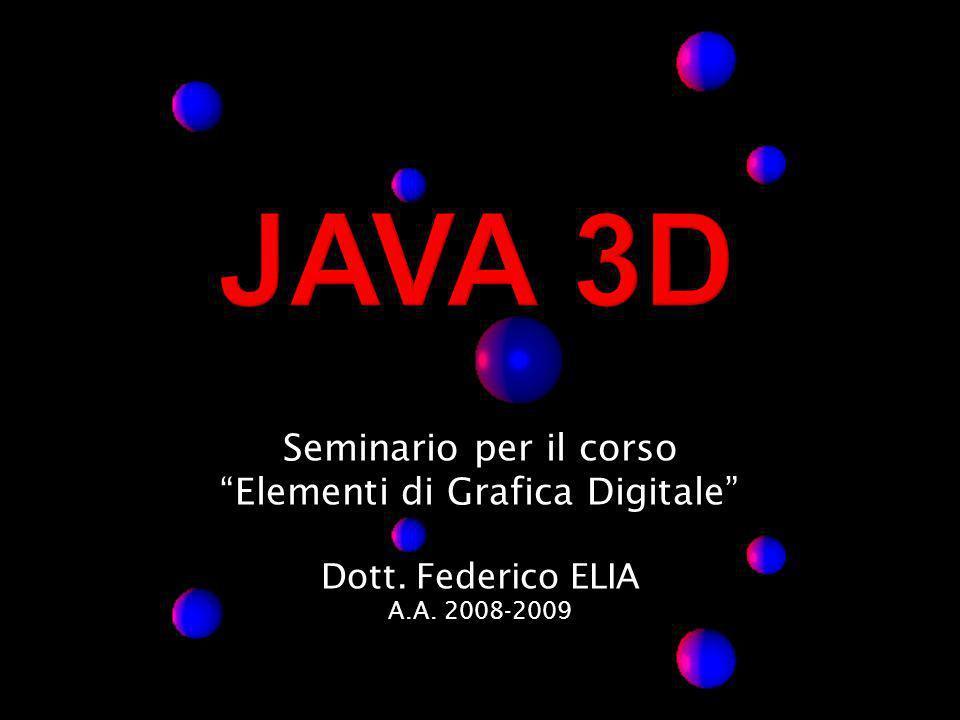 Seminario per il corso Elementi di Grafica Digitale Dott. Federico ELIA A.A. 2008-2009