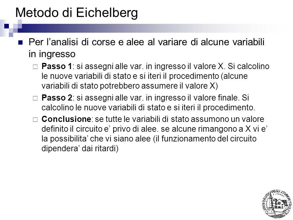 Metodo di Eichelberg Per lanalisi di corse e alee al variare di alcune variabili in ingresso Passo 1: si assegni alle var.
