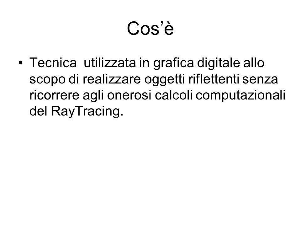 Cosè Tecnica utilizzata in grafica digitale allo scopo di realizzare oggetti riflettenti senza ricorrere agli onerosi calcoli computazionali del RayTracing.