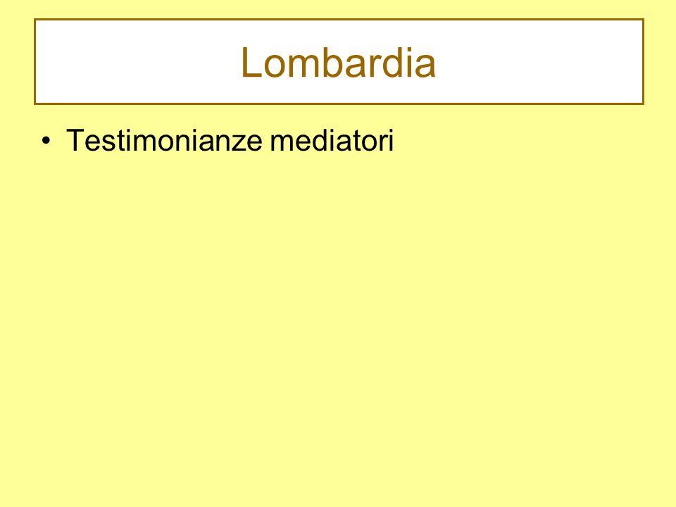 Lombardia Testimonianze mediatori