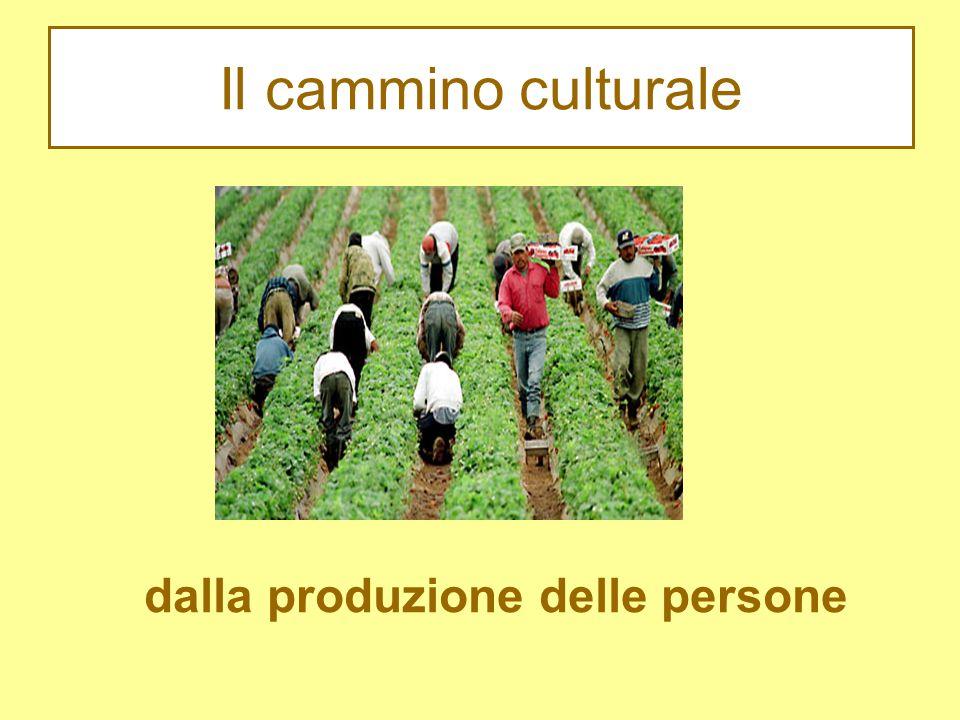 Il cammino culturale dalla produzione delle persone