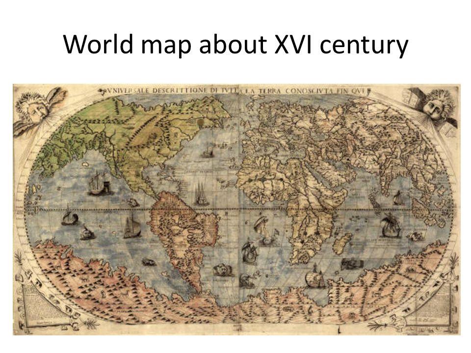 Africas map about XVII-XVIII centuries