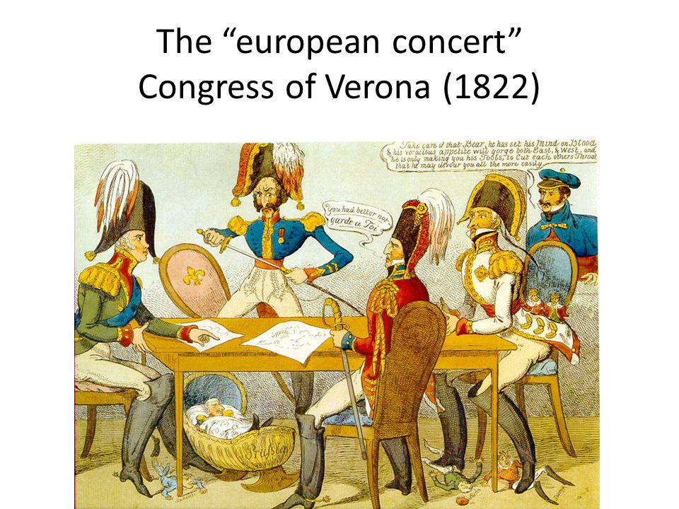The european concert Congress of Verona (1822)