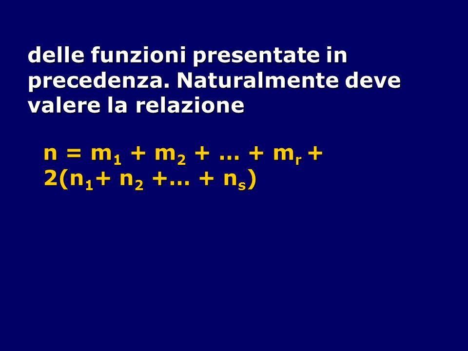 delle funzioni presentate in precedenza. Naturalmente deve valere la relazione n = m 1 + m 2 + … + m r + 2(n 1 + n 2 +… + n s )