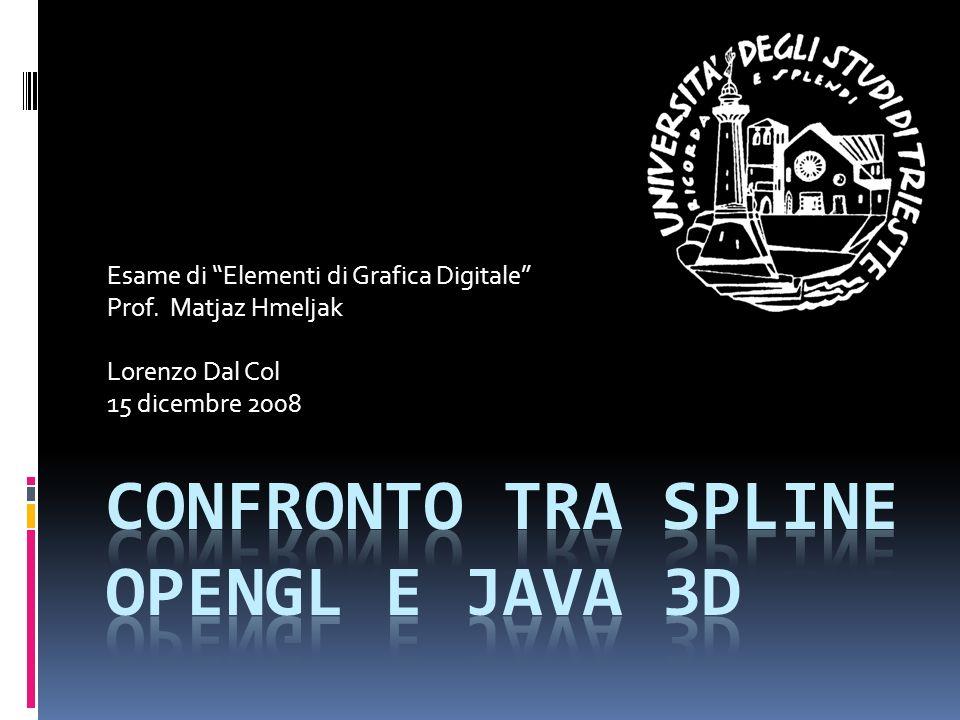 Java 3D splines com.sun.j3d.utils.behaviors.interpolatorscom.sun.j3d.utils.behaviors.interpolators Classes CubicSplineCurve(abstract) CubicSplineSegment(abstract) KBCubicSplineCurve(private constructor) KBCubicSplineSegment(private constructor) KBKeyFrame KBRotPosScaleSplinePathInterpolator KBSplinePathInterpolator RotPosScaleTCBSplinePathInterpolator(abstract) TCBKeyFrame(abstract) TCBSplinePathInterpolator(abstract)