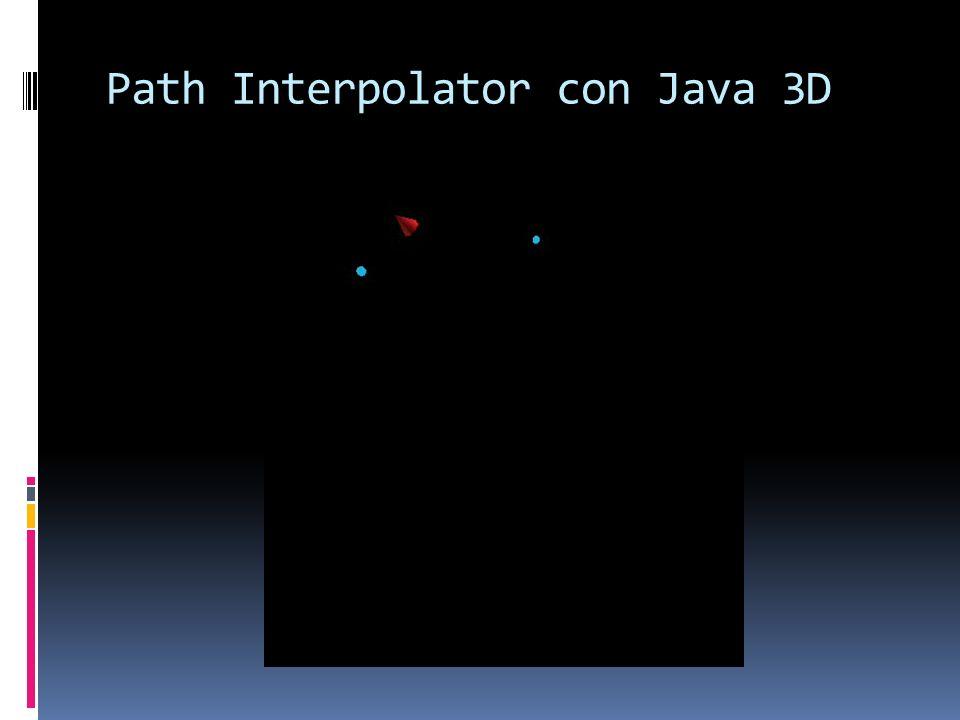 Path Interpolator con Java 3D