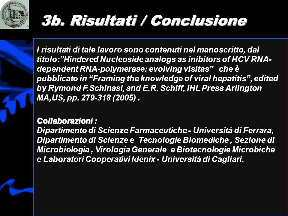 I risultati di tale lavoro sono contenuti nel manoscritto, dal titolo:Hindered Nucleoside analogs as inibitors of HCV RNA- dependent RNA-polymerase: e