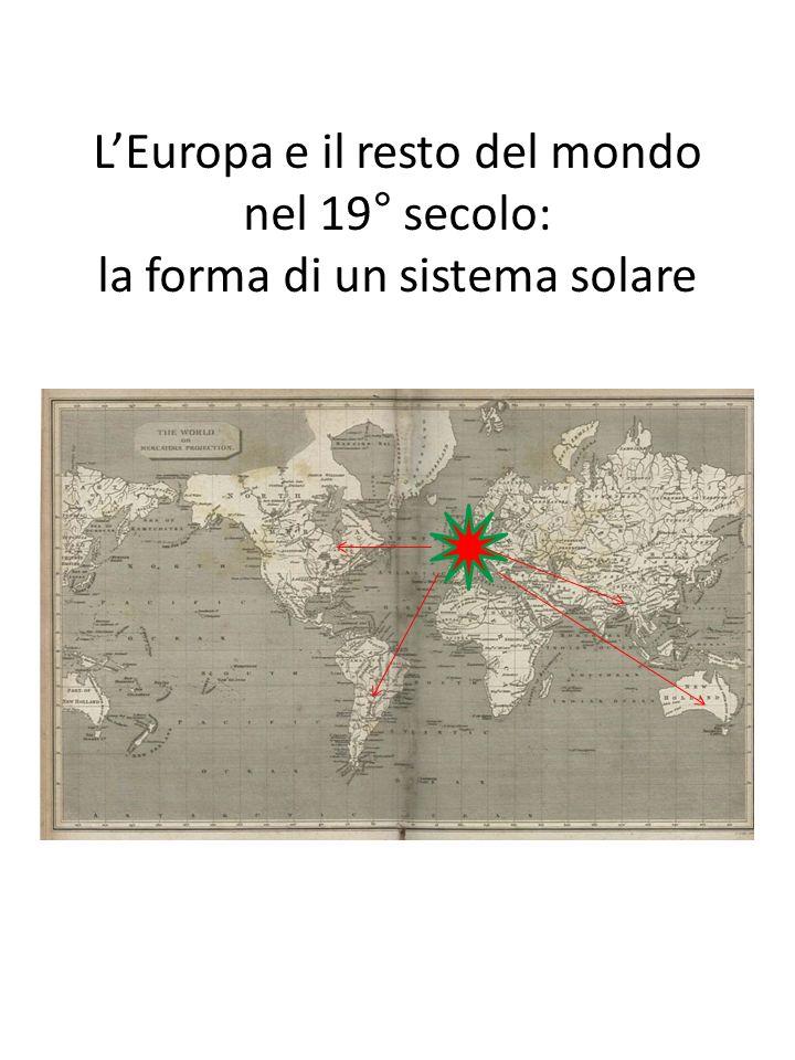 LEuropa e il resto del mondo nel 19° secolo: la forma di un sistema solare