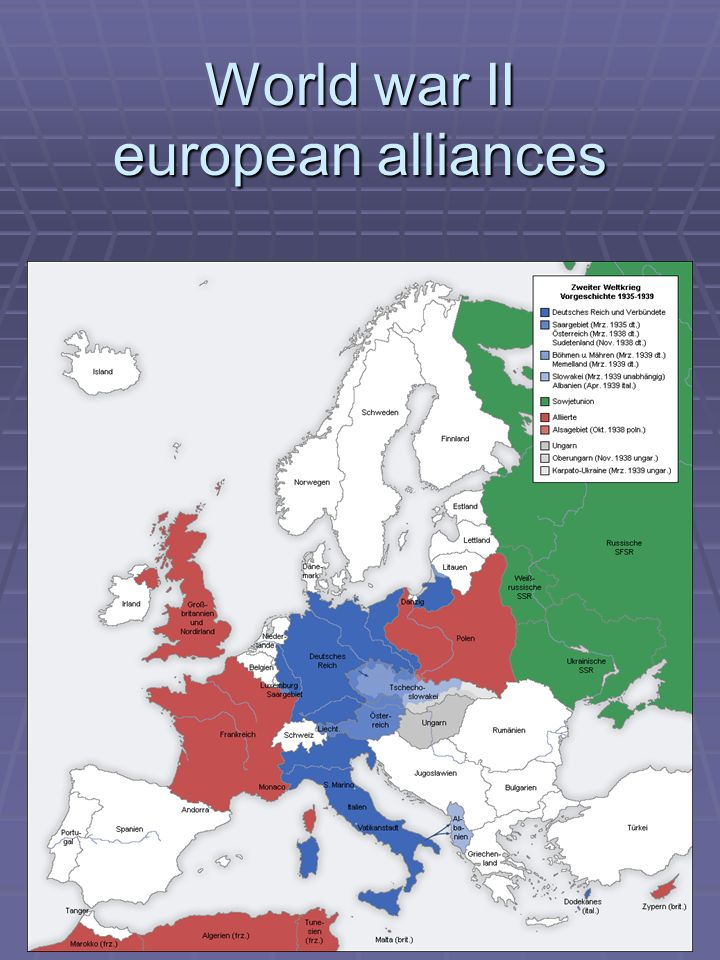 World war II european alliances