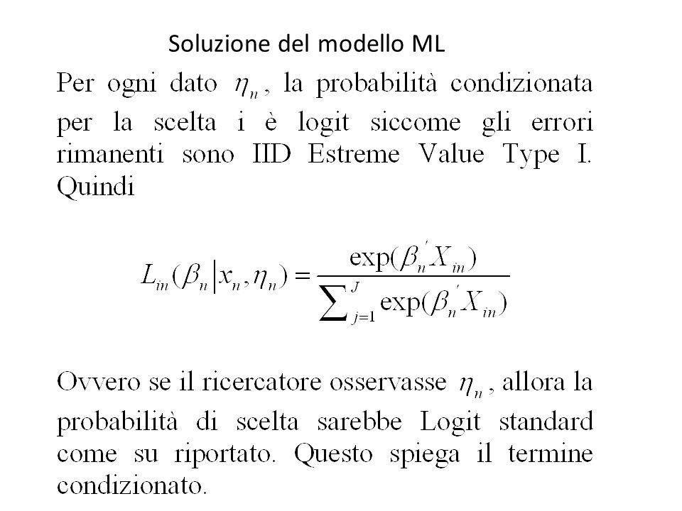 Soluzione del modello ML