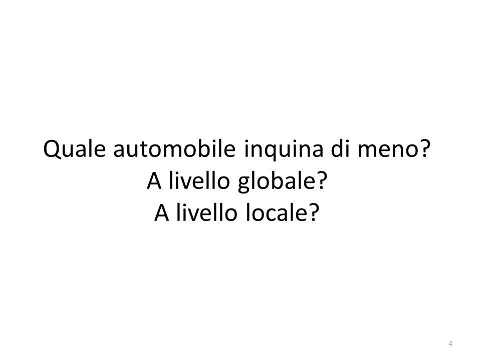 Quale automobile inquina di meno? A livello globale? A livello locale? 4