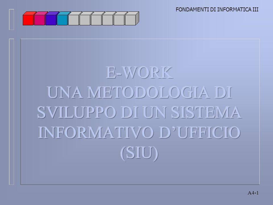 FONDAMENTI DI INFORMATICA III A4-1
