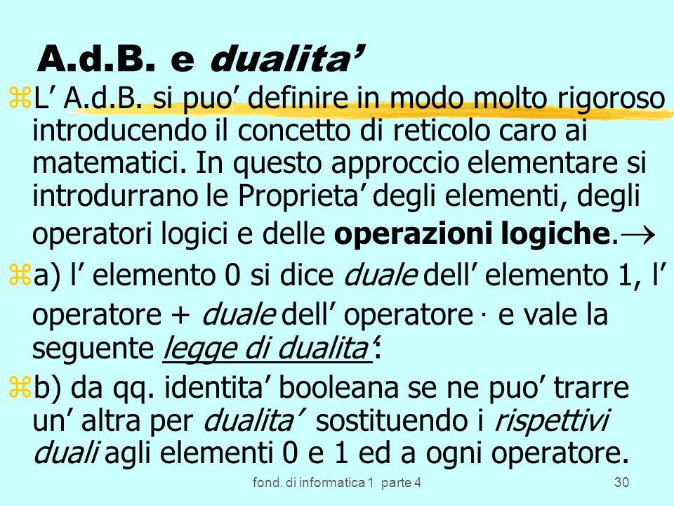 fond. di informatica 1 parte 430 A.d.B. e dualita zL A.d.B.