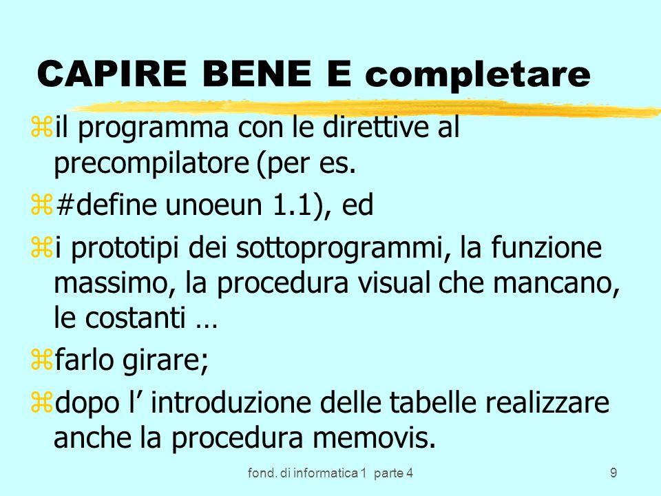 80 Esempi di definizione di array in C++ zint a[5] array monodimensionale o vettore di 5 componenti intere memorizzabili in: za[0],...