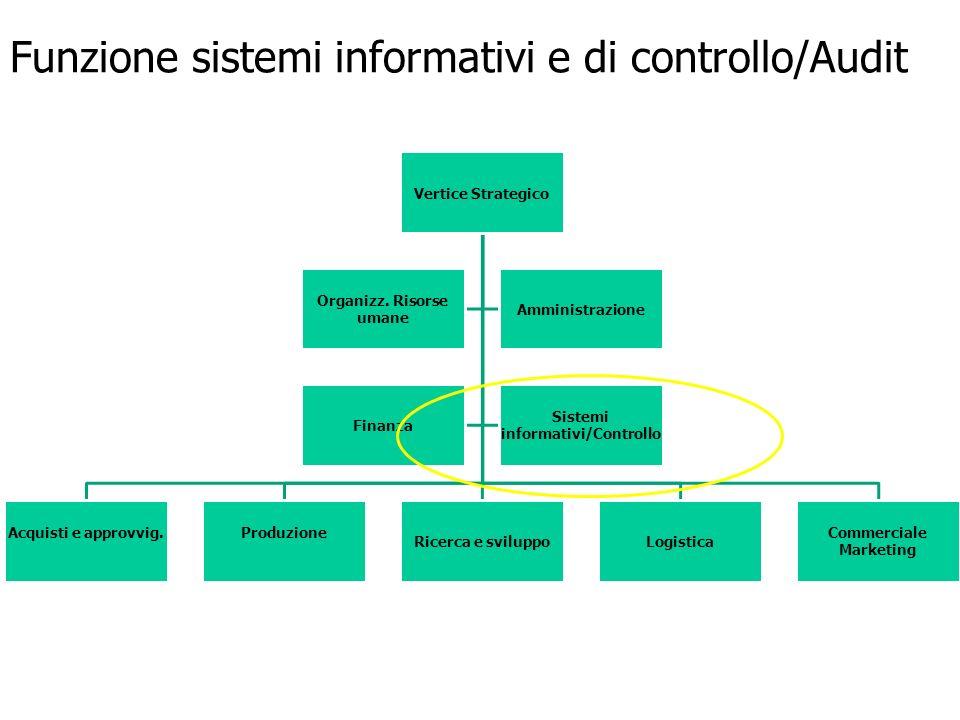 Funzione sistemi informativi e di controllo/Audit
