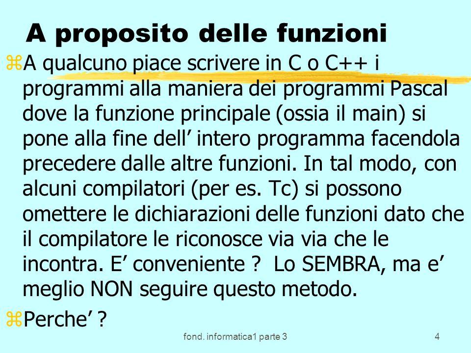 fond.informatica1 parte 345 I motivi per l introduzione dei sottoprogrammi.