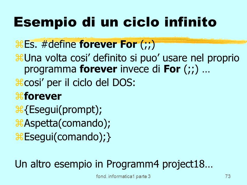 fond. informatica1 parte 373 Esempio di un ciclo infinito zEs.