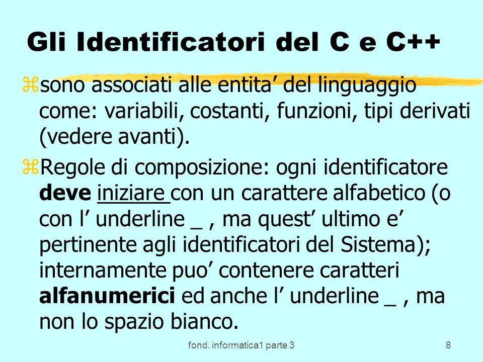 fond.informatica1 parte 349 Attivazione in C e C++ zChi attiva il sottoprogramma.