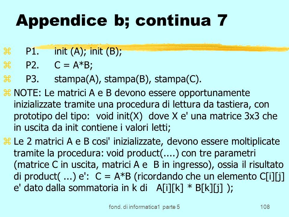 fond. di informatica1 parte 5108 Appendice b; continua 7 z P1.