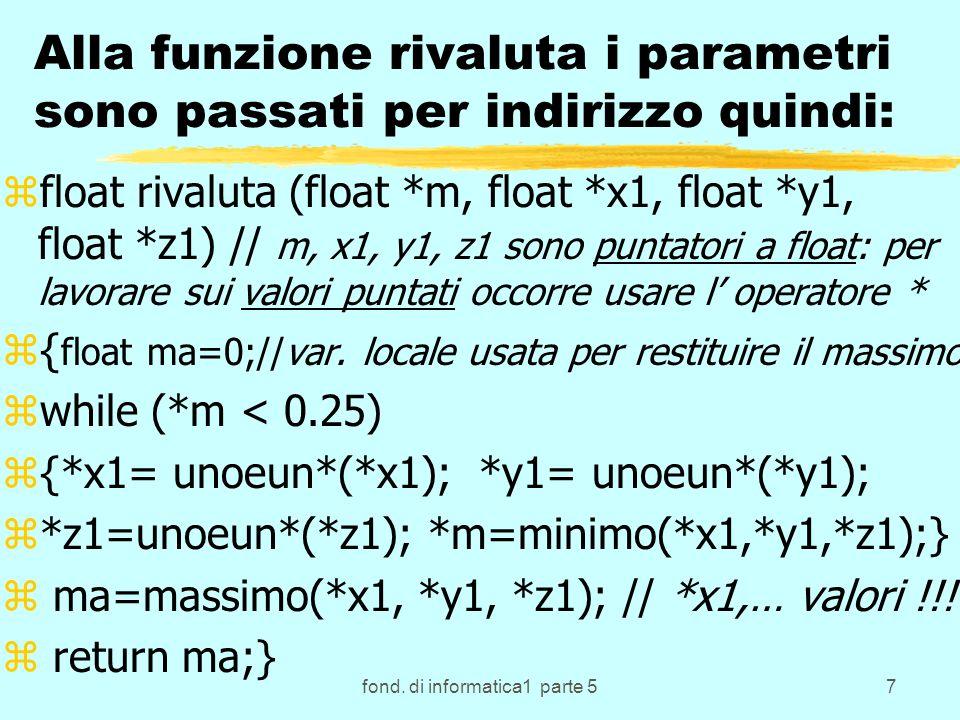 fond.di informatica1 parte 538 ESEMPIO ALGORITMO SEPARAZIONE con N=10 LISTA SIN.