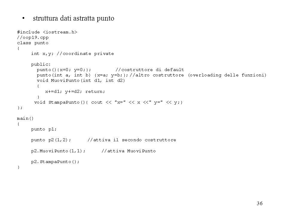 36 struttura dati astratta punto