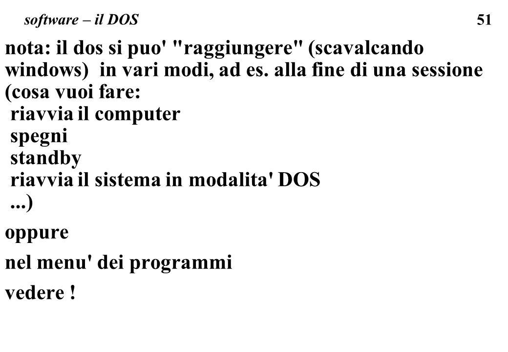 51 software – il DOS nota: il dos si puo'