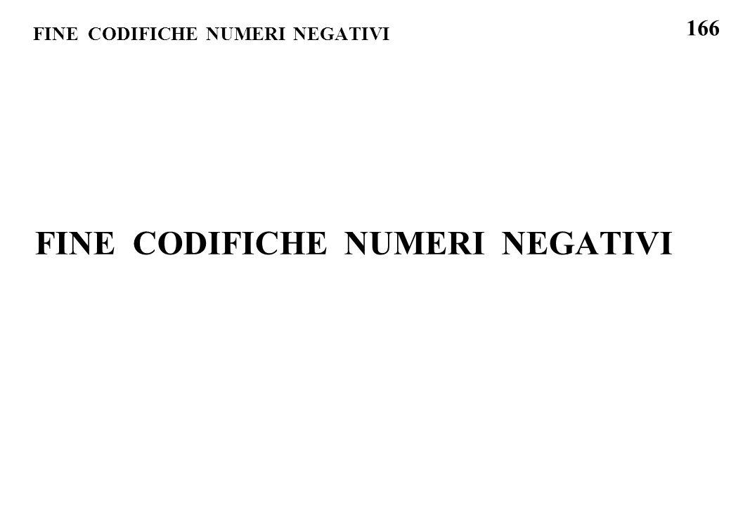 166 FINE CODIFICHE NUMERI NEGATIVI