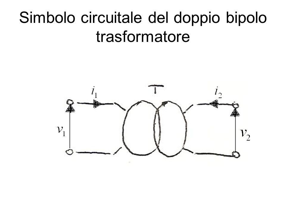 Simbolo circuitale del doppio bipolo trasformatore