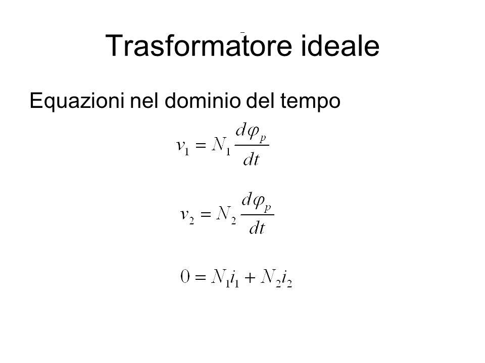 Trasformatore ideale Equazioni nel dominio del tempo