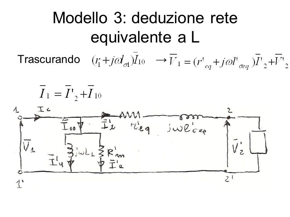 Modello 3: deduzione rete equivalente a L Trascurando