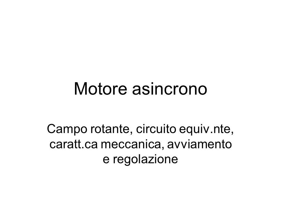 Un sistema elettromeccanico Se il rotore ruota con velocità Scorrimento
