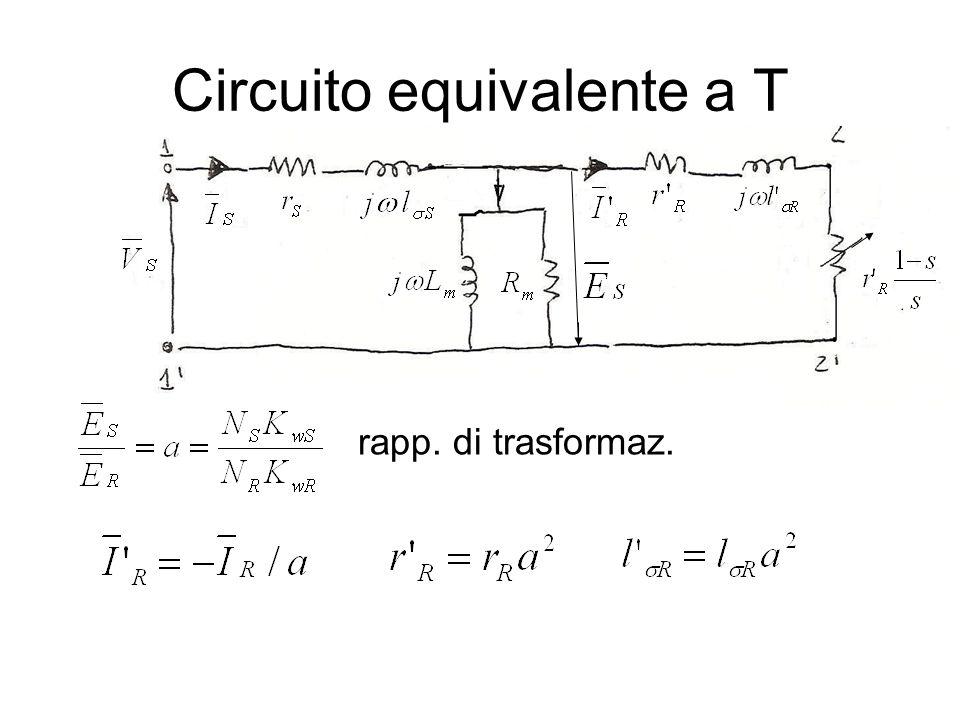 Circuito equivalente a T rapp. di trasformaz.